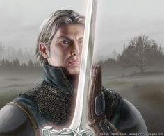 """""""The finest knight I ever saw was Ser Arthur Dayne, who fought with a blade called Dawn, forged from the heart of a fallen star. They called him the Sword of the Morning, and he would have killed me but for Howland Reed."""" - Eddard Stark"""