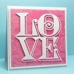Sentiment love cube fichier sst silhouette gratuit