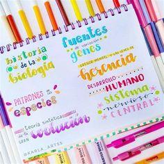 Karla Notes   Libreta De Apuntes, Apuntes, Titulos Bonitos Bullet Journal School, Bullet Journal Titles, Bullet Journal Banner, Bullet Journal Lettering Ideas, Bullet Journal Aesthetic, Hand Lettering Tutorial, School Notebooks, Pretty Notes, School Notes