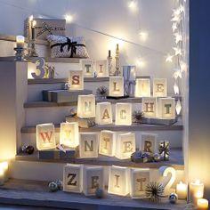 """Windlichttüte """"Winterzeit""""-Set, 10-tlg., für Kerzen bei IMPRESSIONEN.de --> Selber machen oer hier kaufen!"""
