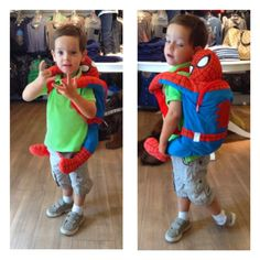 Spidey fans can take their favorite superhero everywhere!!! #colibribebe #weloveclients #boyswillloveit #musthaves #backpack #spiderman #marvel #superhero #soft #cuddly