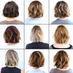 18 Best New Short Layered Bob Hairstyles - PoPular Haircuts Bob Frisur Bob Frisuren Layered Bob Hairstyles, Pretty Hairstyles, Hairstyle Ideas, Wavy Bob Haircuts, Hair Ideas, 2015 Hairstyles, Bob Hairstyles How To Style, Braided Hairstyles, Wedding Hairstyles
