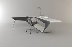 I really like it when I see new designs that remind me of old design classics. The Mystica Desk is a beautiful office workspace that's a