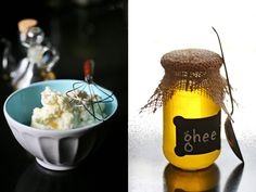 White butter and ghee