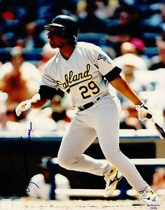 "Geronimo Berroa Oakland A's Autographed 8x10 1989-2000 Photograph Marlins SL SOA . $12.00. Oakland A's OFGeronimo BerroaHand Signed 8x10"" Color PhotoAtlanta Braves (1989-1990)Cincinnati Reds (1992)Florida Marlins (1993)Oakland Athletics (1994-1997)Baltimore Orioles (1997)Cleveland Indians (1998)Detroit Tigers (1998)Toronto Blue Jays (1999)Los Angeles Dodgers (2000)Lotte Giants (2002)GREAT AUTHENTIC BASEBALL COLLECTIBLE!! .AUTOGRAPH AUTHENTICATED BY SPORTS LOT AUTH..."