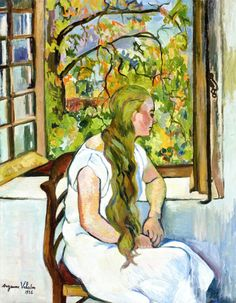 Suzanne Valadon (1865-1938), Germaine Utter in front of the Window, 1926,oil on canvas 81 x 95 cm