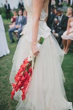 long stem wedding bouquet