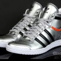 Addidas metallic high tops for women!!! In love. Would love to dance in a pair of these