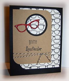 I really like this CAS retro sketch design from westie2: http://www.splitcoaststampers.com/gallery/photo/2194624 Adapted it a bit to use my new SU single stamp and TE eyeglasses die