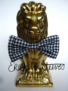 Classic Black and White Gingham Bow Tie by eceesbyericasteeves, $24.00