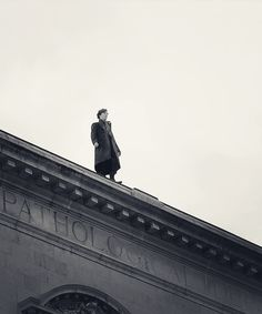 Look, it's a bird! It's a plane! Nope, it's just Sherlock falling to his death.