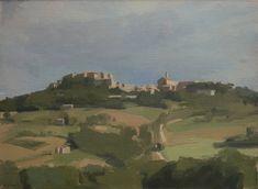 "Diana Horowitz - Todi from San Martino, 2002 Oil on linen 11"" x 14"""