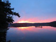 Sailboat, Boating, Canada, America, Sea, Island, Sunset, Outdoor, Sailing Boat