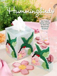 Plastic Canvas - Coaster Patterns - Animal Patterns - Hummingbirds