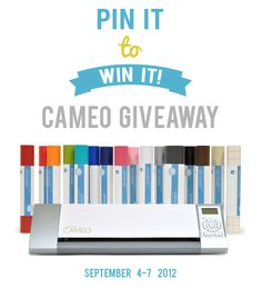 CAMEO giveaway... entry details on the blog