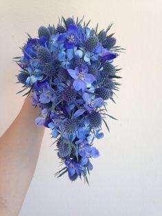 #somethingblue Teardrop Bouquet #weddingflowers #theskinnyvase #theskinnyvasellc  www.theskinnyvase.com
