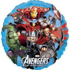 Marvel Avengers & Superhero Party Supplies Canada: Includes one round foil balloon Avenger Party, Party City Balloons, Mylar Balloons, Balloon Party, Latex Balloons, The Avengers, Avengers Shield, Balloon Decorations, Birthday Party Decorations