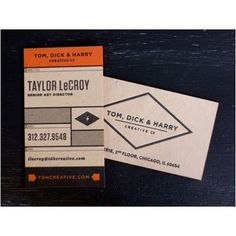 examples of great business card design