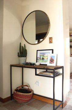 VITTSJÖ as entryway table and vanity (IKEA Hackers)
