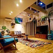無垢の床/テレビ台/テレビ台DIY/男前インテリア目指して/レンガ/リビング…などに関連する他の写真