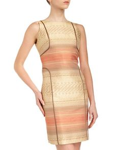 Multi-Jacquard Sheath Dress by Lafayette 148 New York at Last Call by Neiman Marcus.