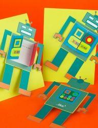 Днем рождения, приглашение на день рождения роботы открытка