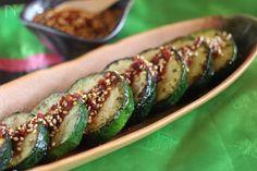 このタレ最高!!ズッキーニのナムル by オンマ(相澤久美江) / このタレさえあればズッキーニだけではなく焼いたお野菜にかけたり、冷やっこ、しゃぶしゃぶのタレにも最高~ / Nadia