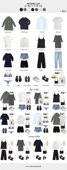 days in South Italy: packing list & outfits. : Packing light for a ten day summer trip in South Italy - july days in South Italy: packing list & outfits. : Packing light for a ten day summer trip in South Italy - july Italy Packing List, Summer Packing Lists, Packing List For Travel, Packing Tips, Travel Tips, Vacation Packing, Packing Light Summer, Travel Ideas, Cruise Packing