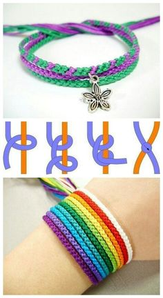 Braclets Diy Diy Bracelets With String Macrame Bracelet Diy String Bracelet Patterns Yarn Bracelets Making Bracelets Friendship Bracelet Patterns Macrame Jewelry Friendship Bracelets Yarn Bracelets, Bracelets Design, Diy Bracelets Easy, Bracelet Crafts, Jewelry Crafts, Gold Bracelets, Embroidery Bracelets, Pandora Bracelets, Handmade Bracelets