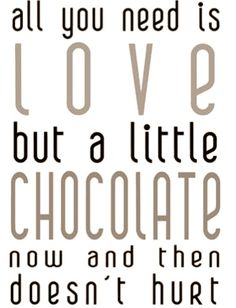 love + chocolate