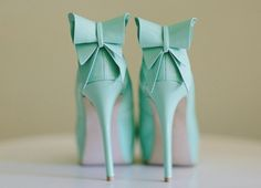tiffany blue heels with bows