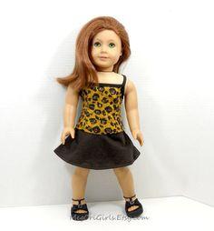 american girl dolls clothes leopard prints top and by MegOrisDolls