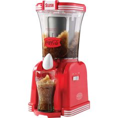 Nostalgia Coca-Cola Slush Machine ($60) ❤ liked on Polyvore featuring home, kitchen & dining and small appliances