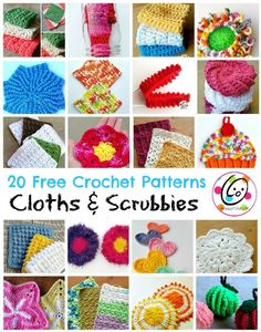 Top Picks: 20 free crochet cloth and scrubby patterns ~ Snappy Tots Crochet Craft Fair, Crochet Gifts, Diy Crochet, Crochet Projects, Crochet Braids, Crochet Scrubbies, Crochet Potholders, Easy Crochet Patterns, Easy Patterns