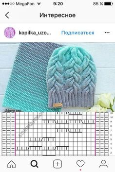 Cable knit hat and scarf pattern Lace Knitting Patterns, Knitting Charts, Knitting Stitches, Knitting Needles, Cable Knit Hat, Cable Knitting, Crochet Socks, Knitted Hats, Diy Crafts Crochet