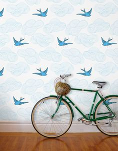 Hygge & West Wallpaper - Daydream (French Blue)