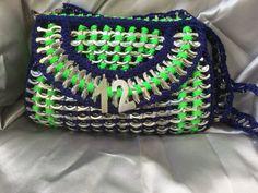 Purse handmade recycled pop tabs purse fun unique por PoptabsPurses