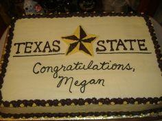Texas State University Graduation Cake