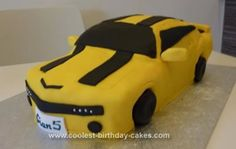 Homemade Transformer Birthday Cake: This Transformer birthday cake was for my 5 year old son who is mad about Transformers. I made sponge 18x18 cm, 4 of them about 4-5 cm depth each. I later