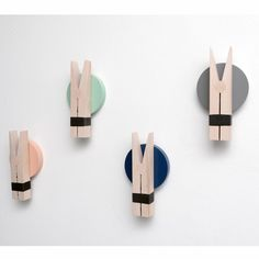 Peggy clips - Created by Megumi Ito for the Danish brand Lucie Kaas Pot A Crayon, Usb Flash Drive, Scandinavian, Hangers, Danish, Rose, Dark Blue Colour, Mint Green, Towels