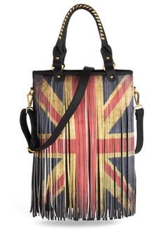 British flag fringe bag