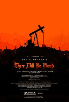 "There Will Be Blood, directed by Paul Thomas Anderson . ""I have a competition in me. I want no one else to succeed. I hate most people."" - Awesome movie poster for this unforgettable film, which I would recommend to anyone. Omg Posters, Cinema Posters, Poster Series, Movie Poster Art, Print Poster, Great Films, Good Movies, Film Fantastic, Olly Moss"