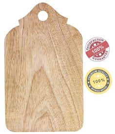 "Amazon.com | 9.5"" Wood Chopping Board - SouvNear Non Slip Wooden Cutting Boards with Handle for Slicing Cheese Bread Lemon Fruit Veggies - Natural Non-Toxic and Food Safe - Dinner D'cor: Serving Trays"