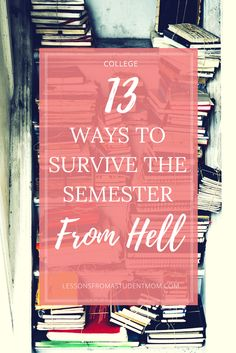 College is hard. And having a really overwhelming semester can make you want to call it quits. But these 13 things have saved me during my semester from hell. Can they help you too? // follow us @motivation2study for daily inspiration