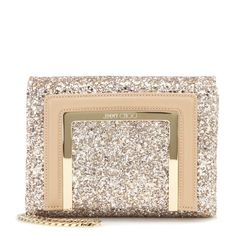 Jimmy Choo - Ava glitter and leather clutch - mytheresa.com