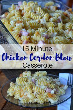 15 Minute Chicken Cordon Bleu Casserole