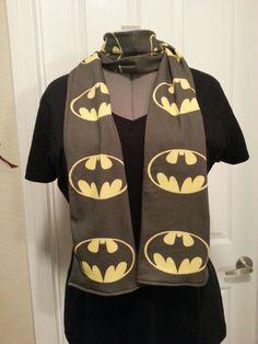 Batman symbol KNIT regular scarf - made to order