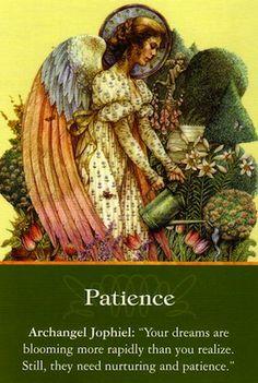 Angel Reading from Archangel Jophiel: Patience........................................lbxxx.