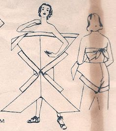genius! cool easy pattern for making yourself a strapless tie up 50's glamour beach babe playsuit for all your sandy frolics this summer easy to make once measurements are taken and easy to put on over a bikini to go from beach to sun and sightseeing while on holiday...get making alice
