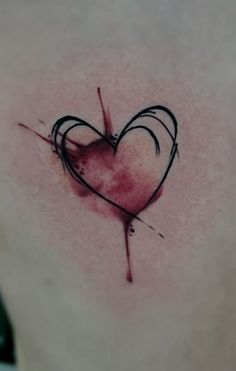 watercolor // tattoo // heart // love // sketch | BUGEATER ART | Flickr